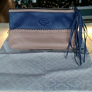 Pre-owned Oryany Blue and Tan  Leather Clutch